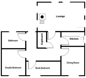 Foxglove Cottage floor plan