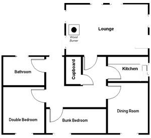 Foxglove Cottage floor plan